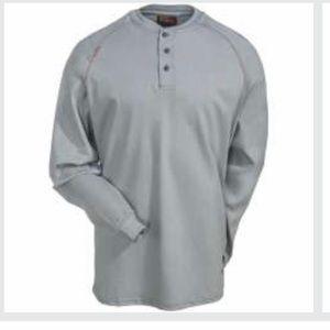 Ariat Flame Resistant Silver Fox Henley Shirt XXL